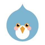 blå fågellägenhetsymbol vektor illustrationer