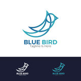 Blå fågellogo Arkivfoto