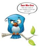 Blå fågelSmarty för disktanthögtalare Fotografering för Bildbyråer