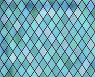 Blå fönstermodell för abstrakt målat glass royaltyfri illustrationer