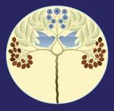 blå förälskelse för fåglar stock illustrationer