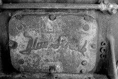 Blå för bensinmotor för strimma 6-Cylinder platta royaltyfria bilder