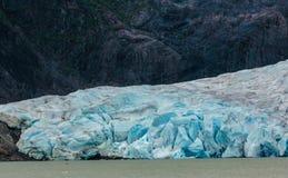 Blå is för glaciär Arkivfoton