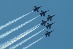 blå f strålskvadron för änglar Royaltyfri Fotografi