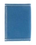 Blå fabrikplånbok Arkivfoton
