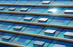 blå facade royaltyfri bild