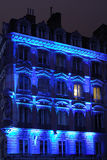 blå facade Arkivfoto