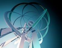blå fi-sci för bakgrund Arkivbild