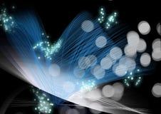 blå fiberlampa Vektor Illustrationer