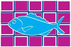 blå fisk Arkivbild
