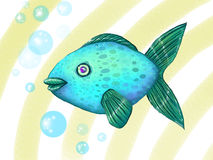 blå fisk Royaltyfri Foto