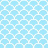 Blå fiskvåg för pastell stock illustrationer