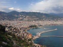 Blå fjärd i Turkiet Fotografering för Bildbyråer