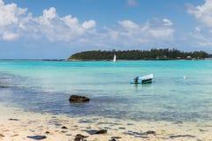 Blå fjärd Marine Park, Mauritius Arkivfoto