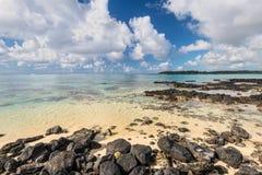 Blå fjärd Marine Park, Mauritius Royaltyfri Foto