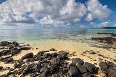 Blå fjärd Marine Park, Mauritius Royaltyfria Bilder