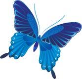 blå fjäril Fotografering för Bildbyråer