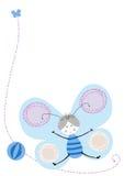 blå fjärilsvektor Vektor Illustrationer
