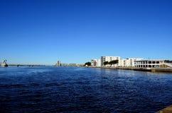 Blå fjord Royaltyfria Foton