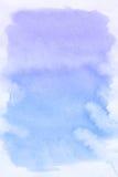 blå fläckvattenfärg för abstrakt bakgrund Arkivfoto