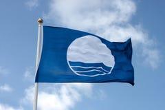 blå flagga Royaltyfri Bild