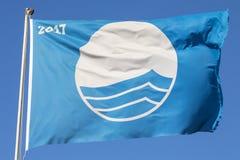 Blå flagga i Portugal Royaltyfri Bild