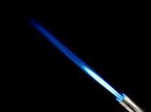 blå flamma Arkivbild