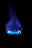 blå flamma arkivfoto