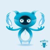 blå flammmonsterrockfox Royaltyfri Foto