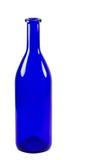Blå flaska som isoleras på vit bakgrund Royaltyfria Foton