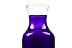blå flaskkemikalie Arkivbild