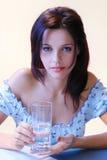 blå flicka Royaltyfria Foton
