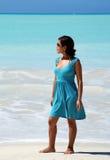 blå flicka Royaltyfri Fotografi