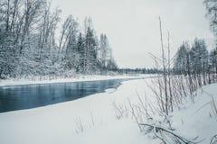 blå flod royaltyfria foton