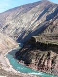 blå flod Royaltyfri Bild