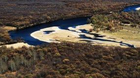 blå flod Royaltyfria Bilder