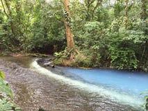 Blå flod för vit Royaltyfri Fotografi