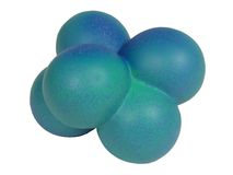 blå form för clippingmolekylbana Fotografering för Bildbyråer