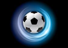 blå fotboll royaltyfri illustrationer