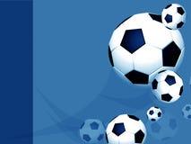 blå fotboll för fotbollorienteringsprofessionell Arkivbilder