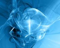 blå fractal arkivfoton