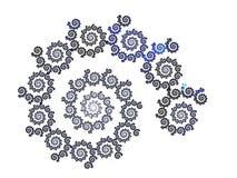 blå fractal Fotografering för Bildbyråer