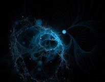 blå fractalfärgstänk Fotografering för Bildbyråer