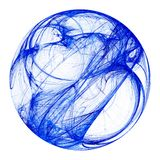 blå fractalsphere Arkivfoton