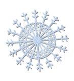 blå frostad snowflake Royaltyfri Fotografi