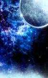 blå fryst galax Royaltyfri Bild