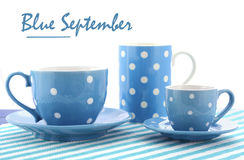 Blå Fundraiser för September välgörenhethändelse royaltyfri foto