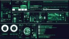 Blå futuristisk manöverenhet för förkylning/Digital screen/HUD