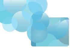 blå gåva för float för kreditering för cirkel för bubblakort royaltyfri illustrationer