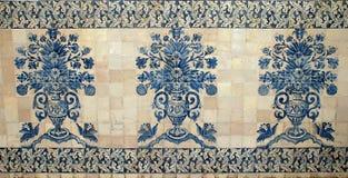 blå gammal portugal tegelplatta Royaltyfria Bilder
